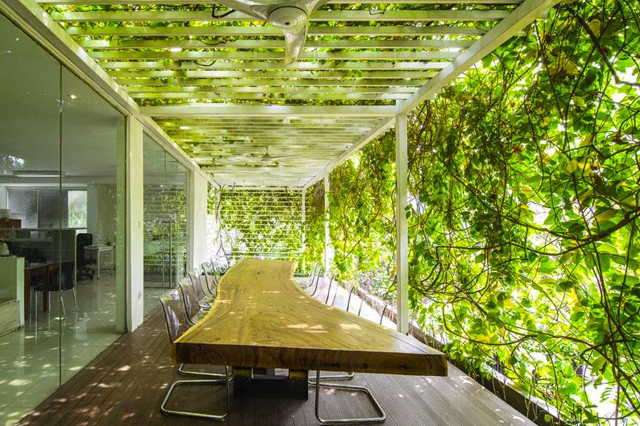 studio airmas asri, esempio di biophilic design