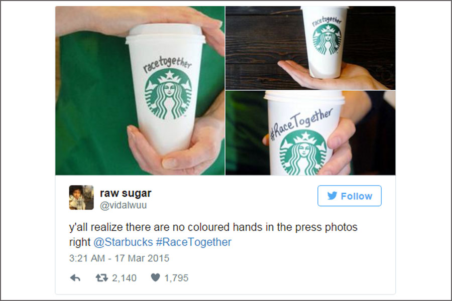 starbucks e la campagna race together